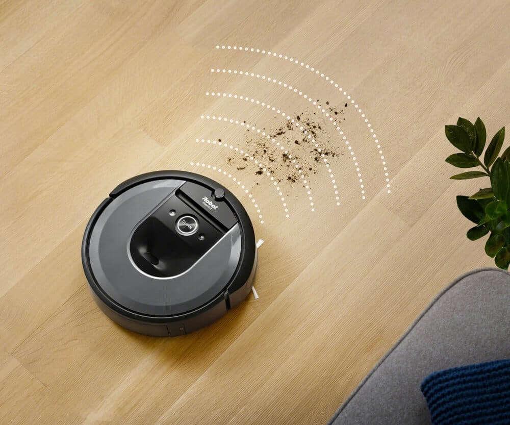 Funkcja Dirt Detect - wykrywanie brudu przez robota sprzątającego iRobot Roomba i7+