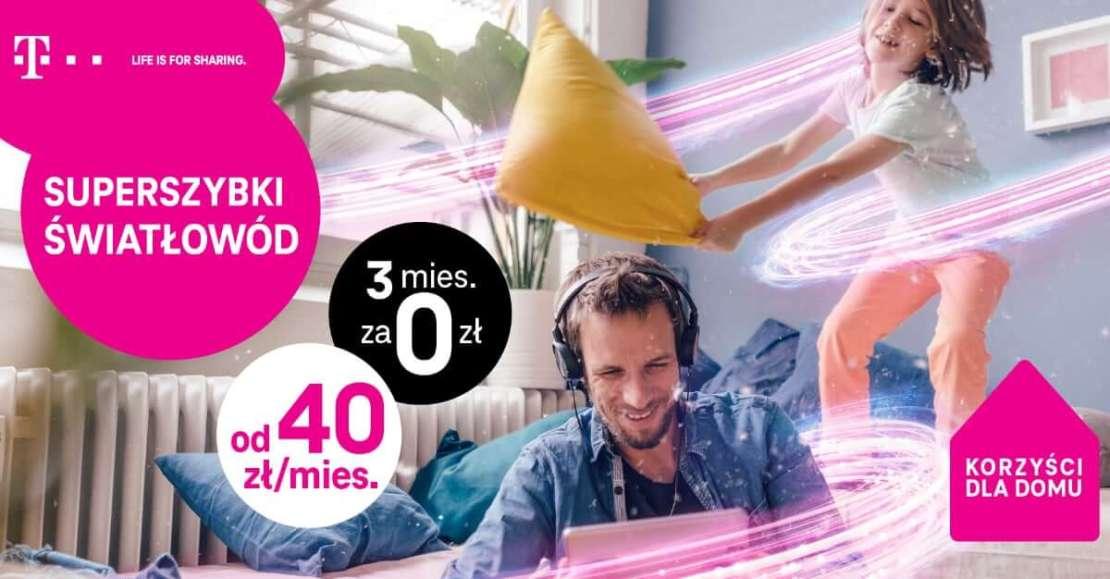 Kampania reklamowa T-Mobile, promująca nielimitowany dostęp do internetu domowego od 40 zł/miesięcznie
