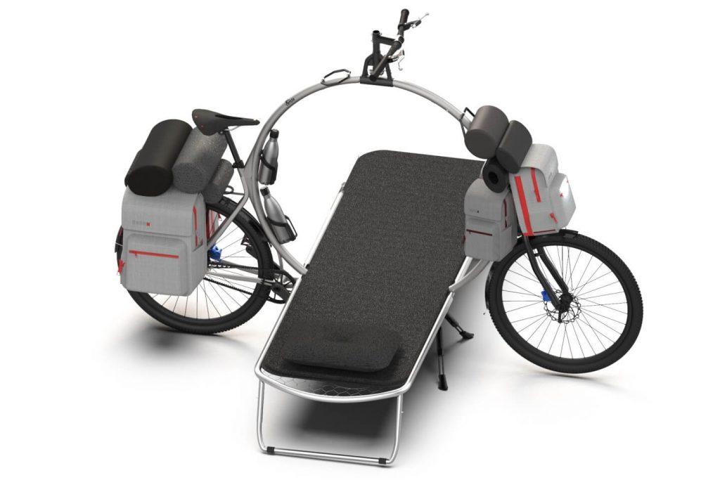 Rower Cercle z rozłożonym łózkiem