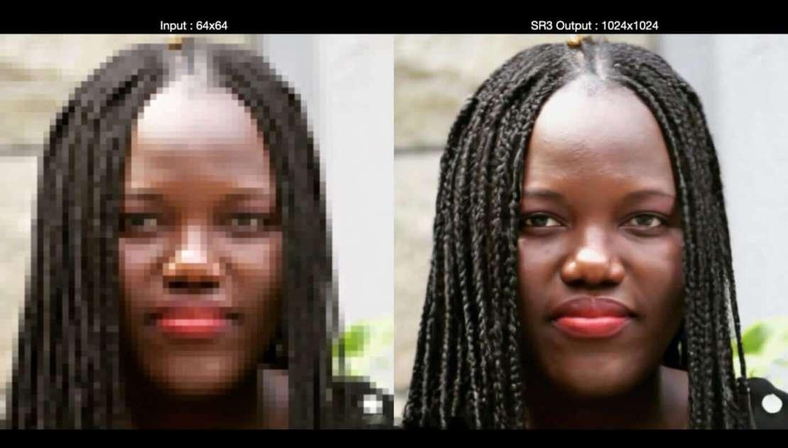 Algorytm AI SR3 Google'a zwiększa rozdzielczość zdjęć z 64x64 px do 1024x1024 px