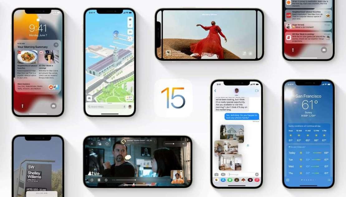 iOS 15 dla iPhone'a