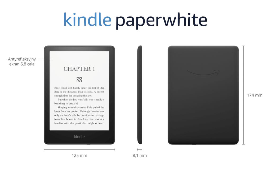 Czytnik Kindle Paperwhite 5 firmy Amazon (2021 rok)