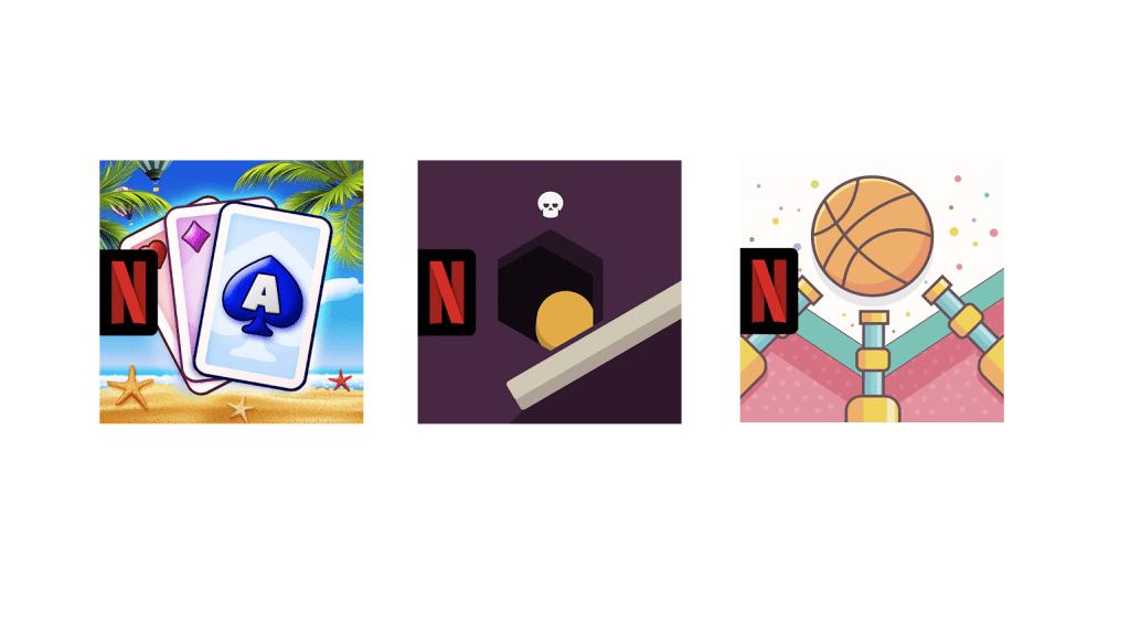 Ikony nowych gier mobilnych Netfliksa