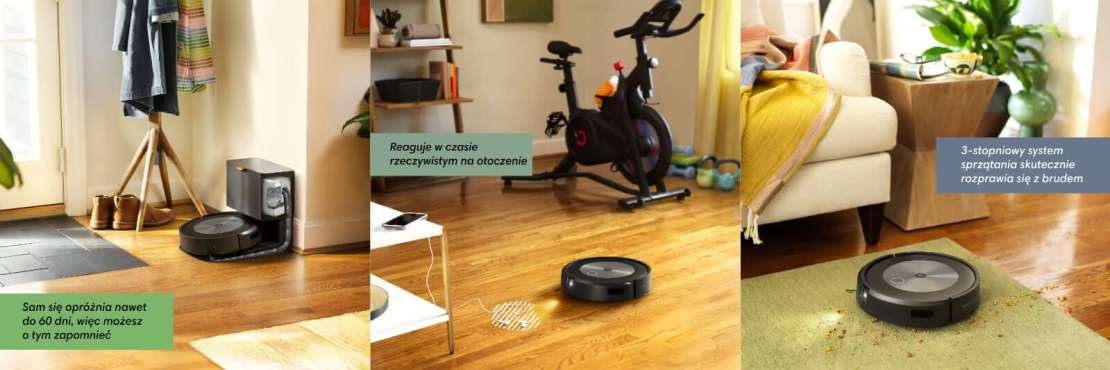 Funkcje robota iRobot Roomba j7 i j7+