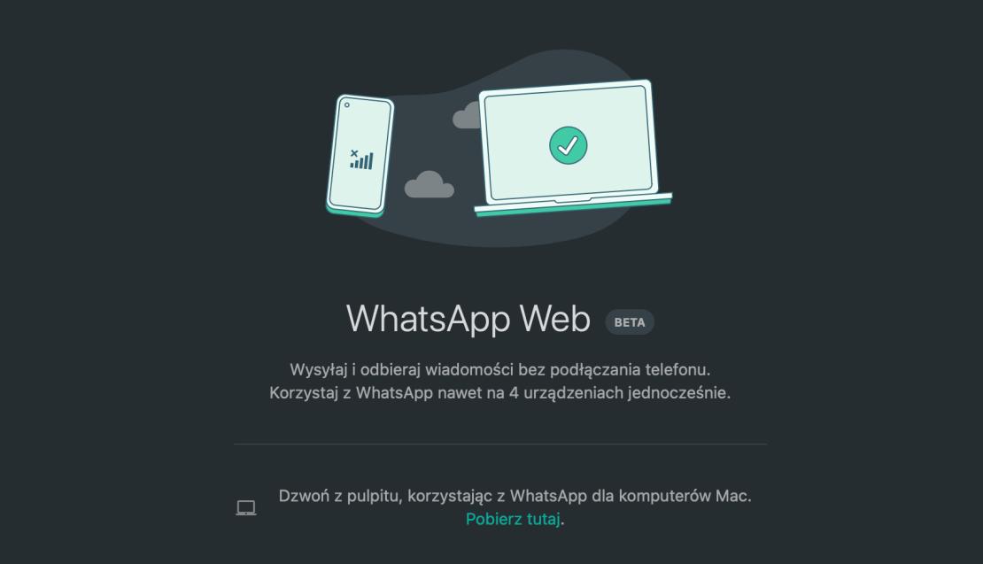 WhatsApp wersja Beta na wiele urządzeń