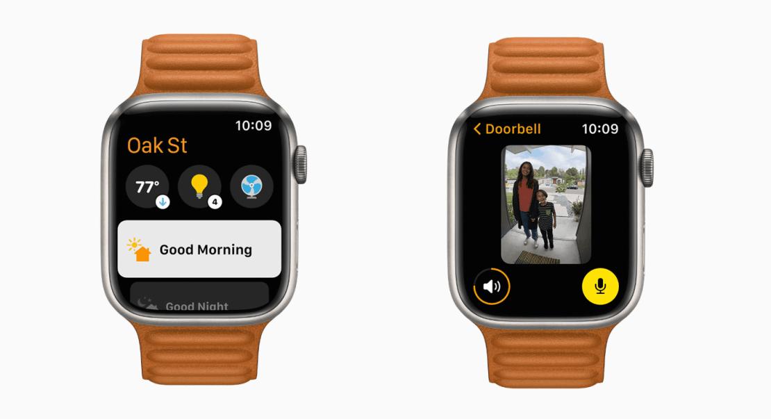 Zmieniona aplikacja Dom pod watchOS 8
