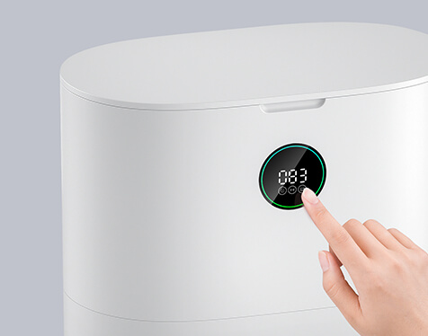 Ekran dotykowy LED - uruchamianie opróżniania robota