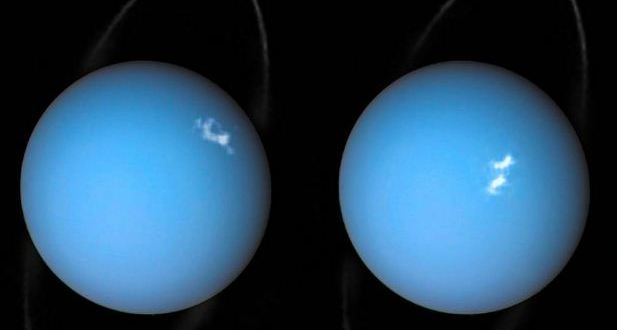 Uranus is surrounded by gaseous clouds that smell like rotten eggs
