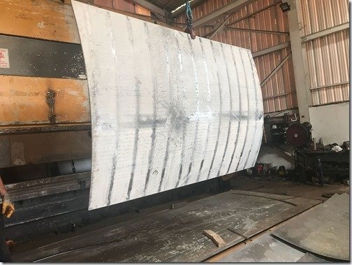 curved hull plate bending 2