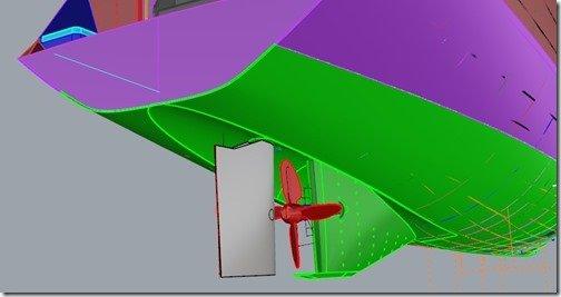 Prop Tunnel Skeg Upright