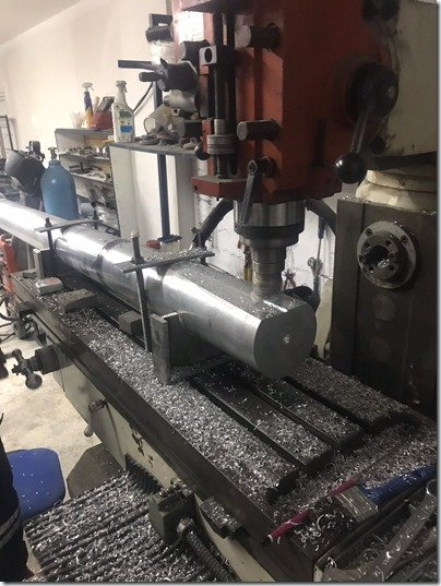 Milling rudder post 1