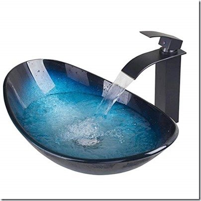 Turquoise oval sink