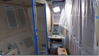 Plastic sheeting in Master Head