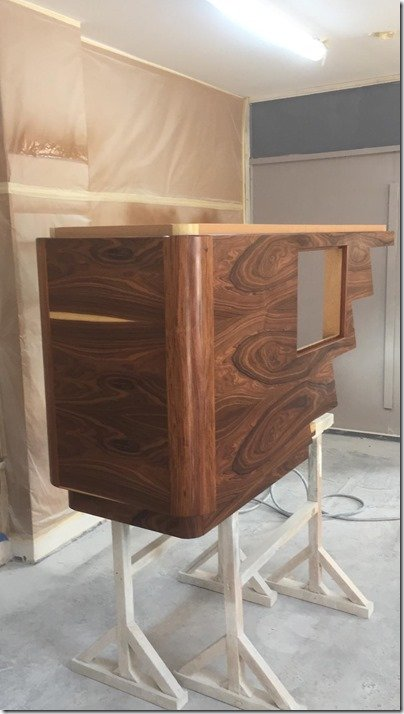 Finishing Galley stairs cupboard