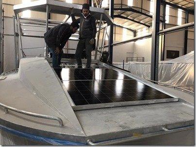 Front solar panels install 5