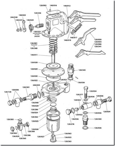 Amal Lift Pump exploded drawing