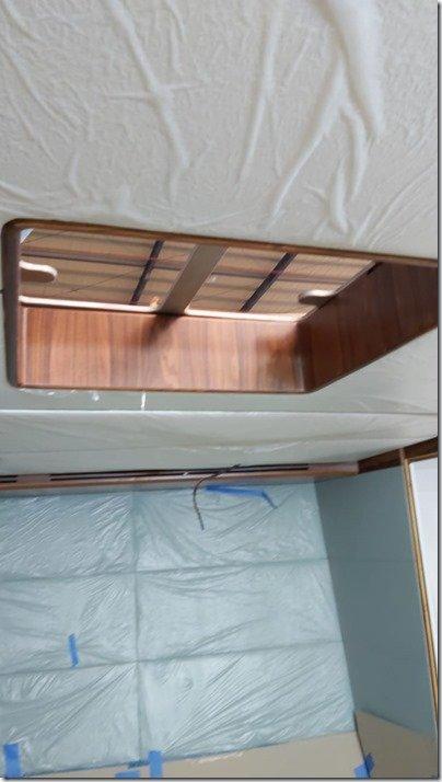Master Cabin rosewood hatch liner installed