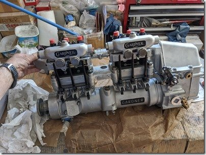 Mr. Gee Fuel Injection pump unpacked on workbench