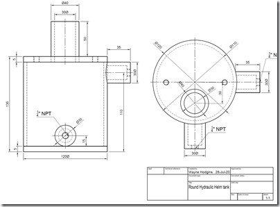 Round Hydraulic tank dim dwg