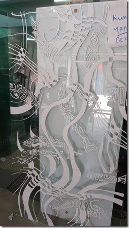 Shower Glass Wall etching