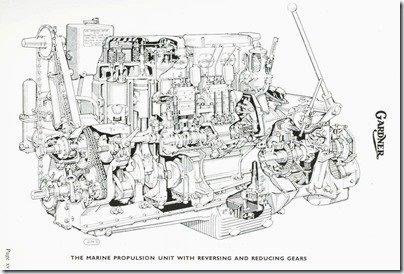 6LXB Marine cutaway illustration w reversing-redux gears