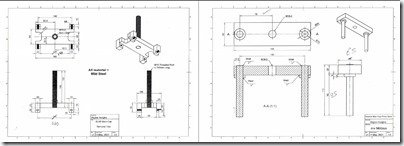 Gardner Main brg removal tool 2D dim dwgs from Fusion