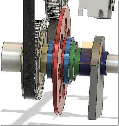 Cogged Belt Pulley closeup crank area Fusion screenshot