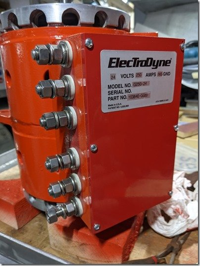Electrodyne with label
