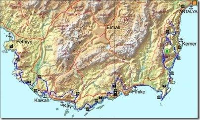 Turkish coast Finike to Antalya