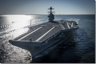 US Navy Gerald Ford aircraft carrier