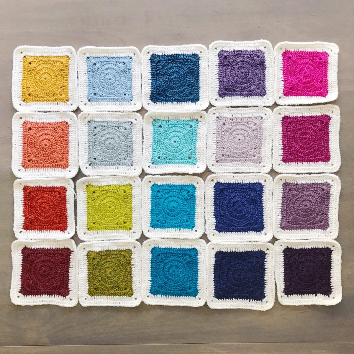 Rainbow crochet blanket