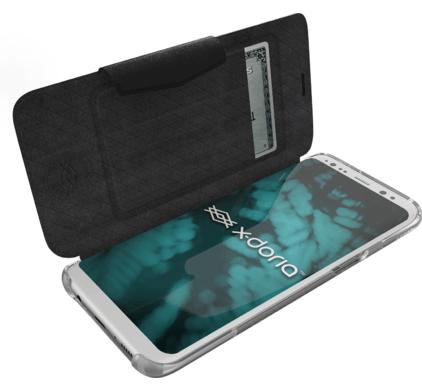 X doria Samsung G950F Galaxy S8 Book Case Engage Folio 3X3R3506A   6950941458023 Blue