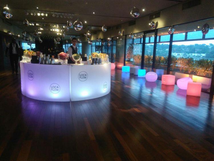 aluguel de móveis de LED para festas e eventos, locação de móveis para festas