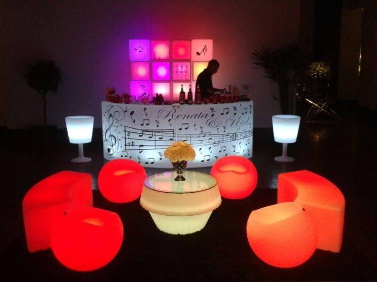 mobiliário para locação LED Campinas
