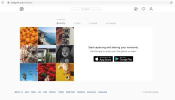 instagram on desktop website