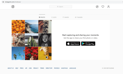 instagram on desktop website