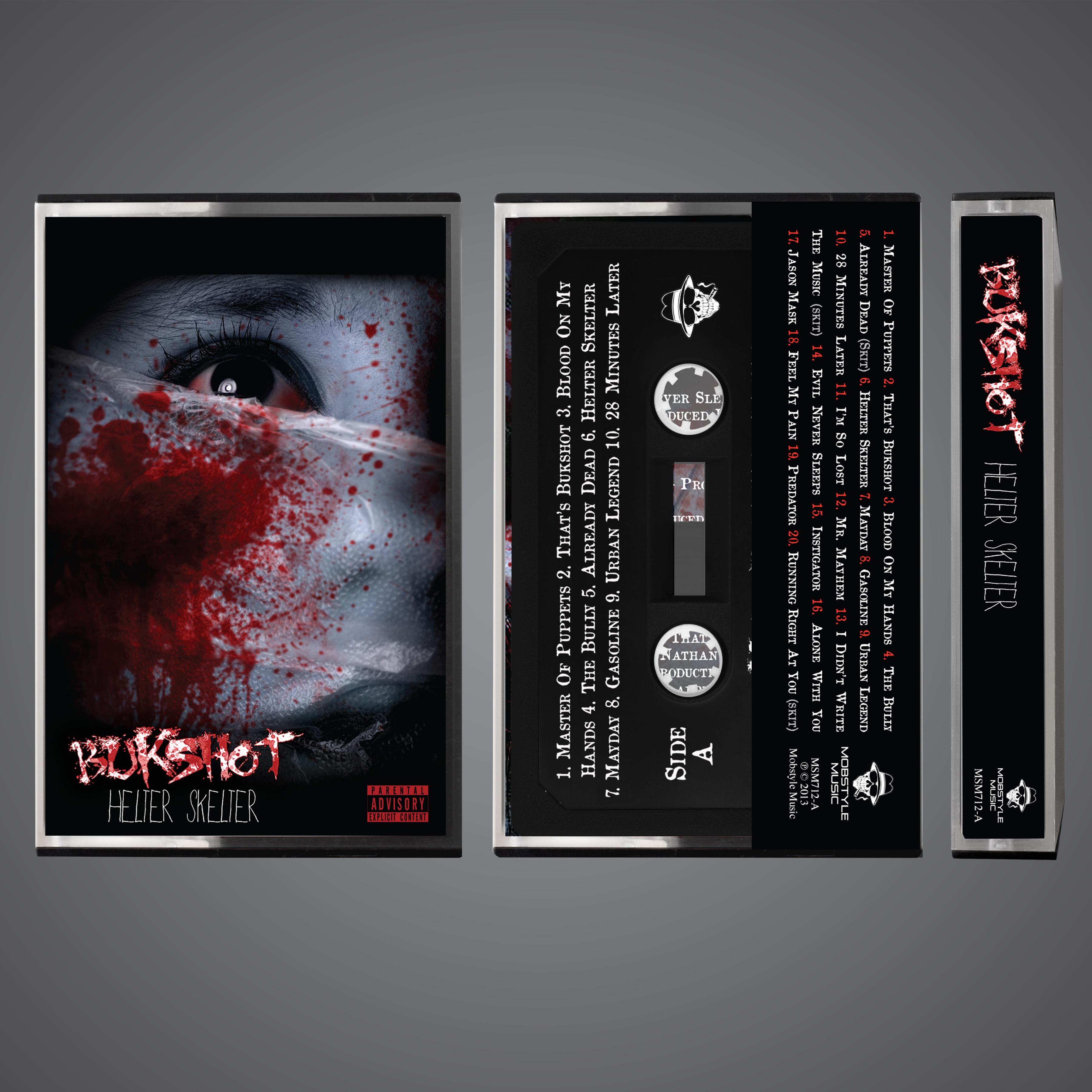 """Bukshot """"Helter Skelter"""" OG Cassette Tape! Limited To 100!"""