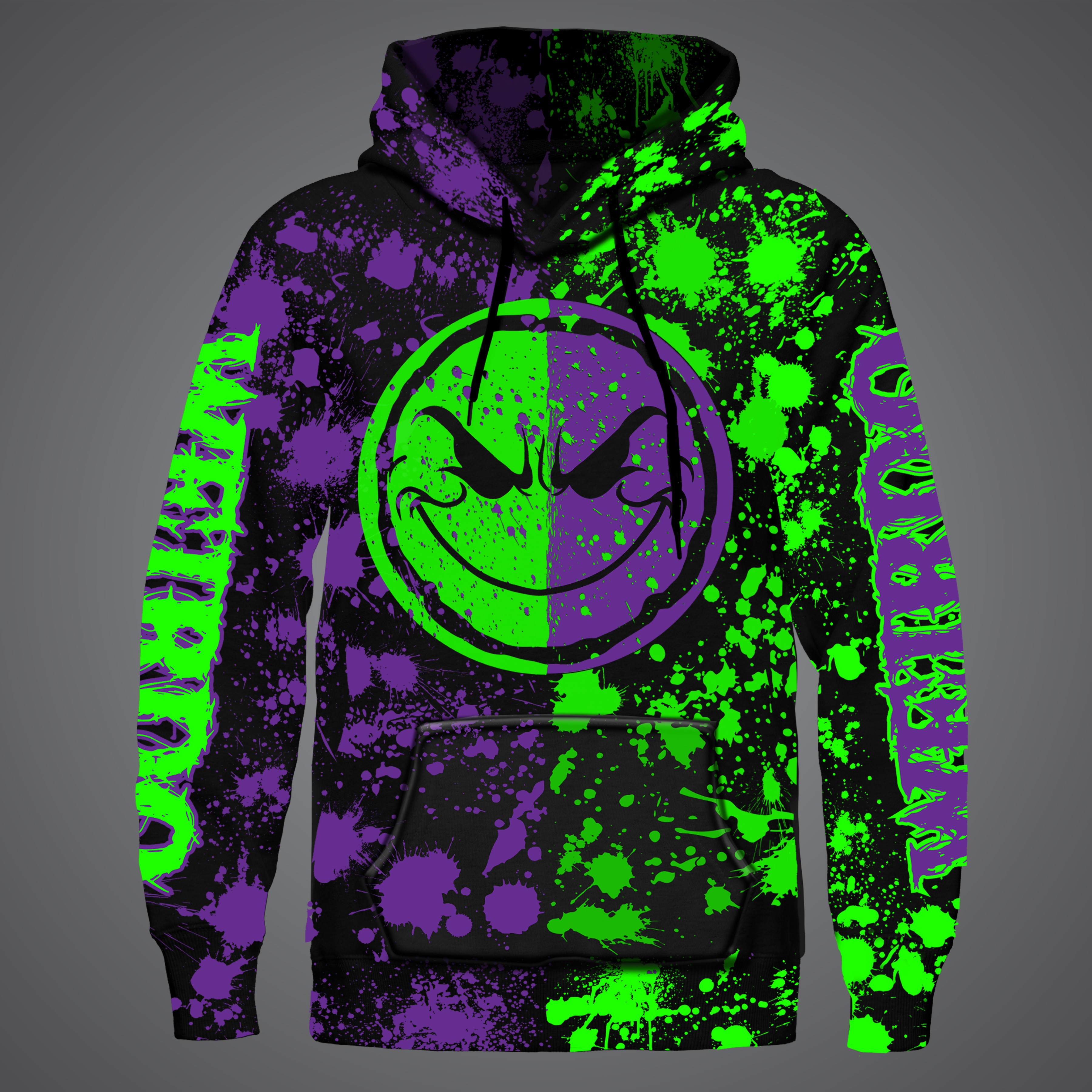 Splatter-Face Sublimated Hoodie