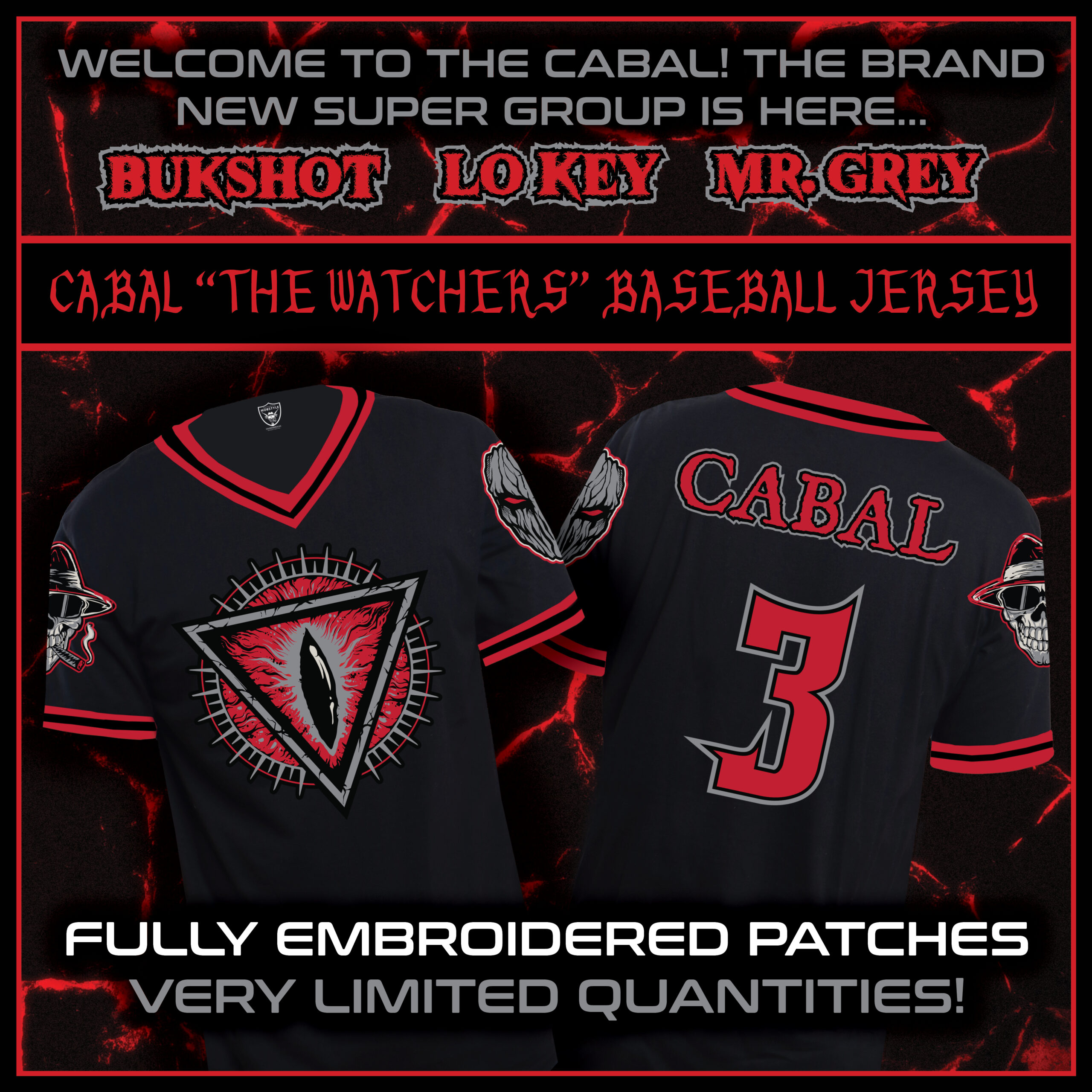 Cabal Embroidered Baseball Jersey (EXTREMELY LIMITED!!!)