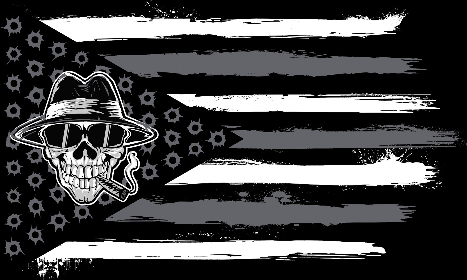 Mobstyle Smoking Joe 3′ X 5′ Double Sided Flag!