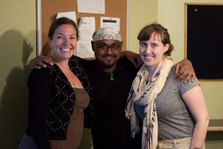 Upstage Crew: Katelynd Kuhar, Eric Sukhu and Sarah Deshaies