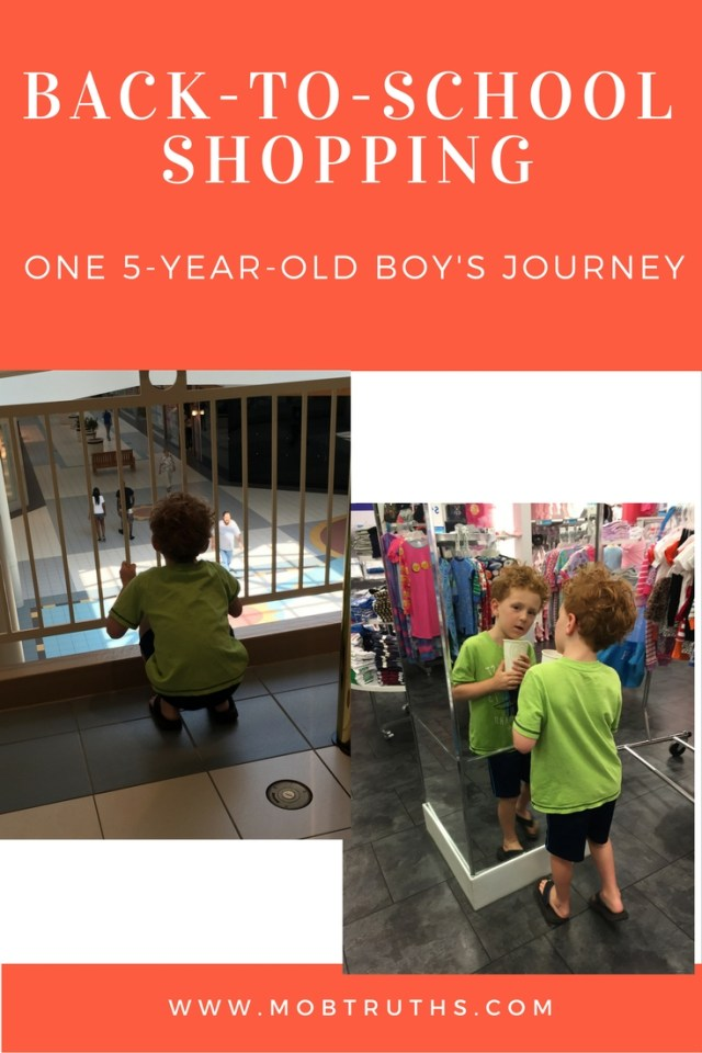 School shopping - with a son