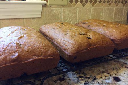 finished pumpkin bread