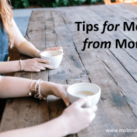 Tips for moms from moms:  Perspective on raising boys