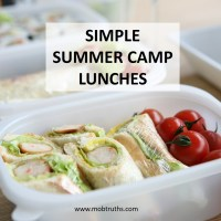 UGH.  Another deli sandwich, Mom?  10 simple summer camp lunch ideas to the rescue