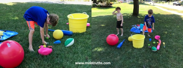 Working together is key in this game as part of an AWESOME summer day without even leaving your front yard
