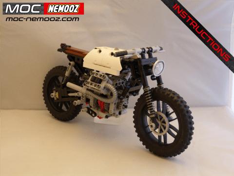 lego technic moto guzzi v80 scrambler