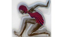 Swimmer D., 1970Multiple on plexiglass,	9 1/2 x 9 1/2 inches (24.13 x 24.13 cm)Gift of Debra and Dennis Scholl