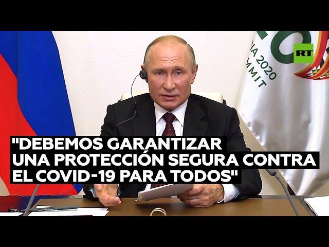 """Putin: """"La vacuna contra el covid-19 debe estar disponible para todos y Rusia está dispuesta a proporcionarla a todos los países que la necesiten"""""""