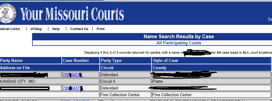 Case Net hiding public records